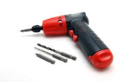 Cordless wireless drill and screwdriver Royalty Free Stock Photography