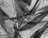Cordón negro Rumpled Imagen de archivo