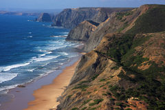 Cordoama海滩, Vicentine海岸,葡萄牙 库存图片