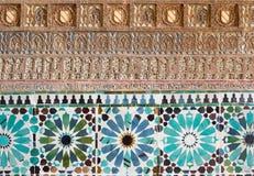 Cordoba - деталь mudejar штукатурки и tiling в часовне Capilla Сан Bartolome стоковые изображения
