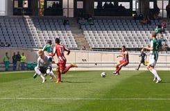 CORDOBA, ИСПАНИЯ - 17-ОЕ МАРТА: Альберто Garc�a w (1) в действии во время лиги Cordoba спички (w) против Альмерии (r) (4-1) Стоковая Фотография