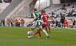 CORDOBA, ИСПАНИЯ - 17-ОЕ МАРТА: Aleix Vidal Parreu r (8) в действии во время лиги Cordoba спички (w) против Альмерии (r) (4-1) Стоковое Изображение