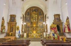 CORDOBA, ИСПАНИЯ - 27-ОЕ МАЯ 2015: Ступица церков Convento de Capuchinos Iglesia Santo Anchel Стоковая Фотография RF