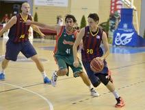 CORDOBA, ИСПАНИЯ - 14-ОЕ СЕНТЯБРЯ: МАРКУС ERIKSSON b (20) в действии во время FC Barcelona спички (b) против CB Севильи (g) (91-8 Стоковая Фотография