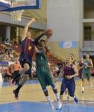 CORDOBA, ИСПАНИЯ - 14-ОЕ СЕНТЯБРЯ: ДЕРРИК BYARS g (1) в действии во время FC Barcelona спички (b) против CB Севильи (g) (91-85) н Стоковое Изображение