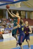 CORDOBA, ИСПАНИЯ - 14-ОЕ СЕНТЯБРЯ:  LEX URTASUN g à (4) в действии во время FC Barcelona спички (b) против CB Севильи (g) (91-85 Стоковые Фото
