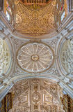 Cordoba - куполок главной часовни с готическим и барочным сводом Стоковое Фото