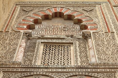 Cordoba. Spain. The Great Mosque (currently Catholic cathedral). UNESCO World Heritage Site. Mashrabiya window with stone latticework. Beautiful art Stock Images