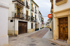 Дома городка Cordoba старые Стоковая Фотография RF