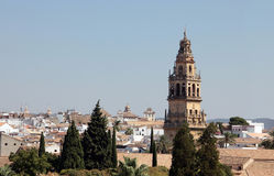 Cordoba from the Alcazar. Córdoba is the third city in Andalusia (Spain) by both size and population and is located in a depression on the banks of the Royalty Free Stock Photo