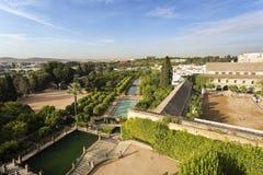 Cordoba Alcazarträdgårdar Arkivbild