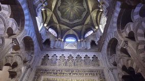 Cordoba, Andalucia, Spain, April 20, 2016: Cathedral of the Immaculate Conception of the Blessed Virgin Mary stock footage