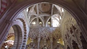 Cordoba, Andalucia, Spain, April 20, 2016: Cathedral of the Immaculate Conception of the Blessed Virgin Mary stock video footage