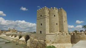 Cordoba Andalucia, Spanien, April 20, 2016: Calahorra torn stock video