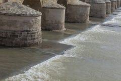Cordoba andalusia Alte römische Brücke Lizenzfreies Stockbild