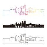 Cordoba AR skyline linear style with rainbow Royalty Free Stock Photography