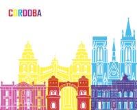 Cordoba AR skyline pop Royalty Free Stock Images