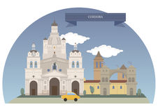 Cordoba Argentina stock illustrationer