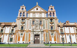 Cordoba - baroque facade of church Convento de la Merced  (1716 - 1745) Royalty Free Stock Photo