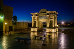 Cordoba bridge gate Stock Photography