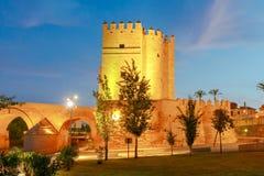 Cordoba. Calahorra Tower. Roman bridge over the Guadalquivir River and Calahorra Tower. Cordoba, Andalusia, Spain royalty free stock images