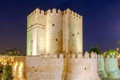 Cordoba. Calahorra Tower. Roman bridge over the Guadalquivir River and Calahorra Tower. Cordoba, Andalusia, Spain stock images