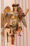 Cordoba - The carved polychrome baroque statue of angel in presbytery from church of Monastery of st. Ann and st.Joseph Royalty Free Stock Image