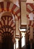 Cordoba Cathedral Arcs Stock Image