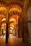Cordoba Cathedral Arcs Royalty Free Stock Photography