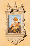 Cordoba - The ceramic tiled Pieta on the facade of church Iglesia de San Augustin Stock Photos