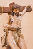 Cordoba - The Christ descending from the cross statue in church of Monastery of st. Ann and st. Joseph Royalty Free Stock Image