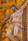 Cordoba - Christ descending from the cross statue in church of Monastery of st. Ann and st.Joseph Royalty Free Stock Photography