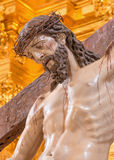 Cordoba - The Christ descending from the cross statue in church of Monastery of st. Ann and st.Joseph Stock Images