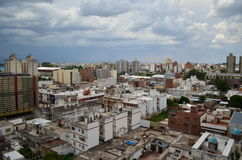 Cordoba city buildings and clouded sky Royalty Free Stock Photos