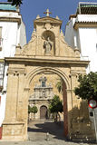 Cordoba Compas de San Francisco. Entrance arch to the Compas of San Francisco in Cordoba, Spain stock photography