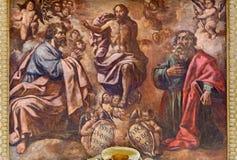 Cordoba - das Fresko der Transfiguration des Lords von 17 cent Stockfoto
