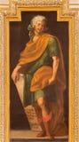 Cordoba - de fresko van de kerk Iglesia DE San Augustin van helderziendezechariahin van 17 cent door Cristobal Vela en Juan Luis  Royalty-vrije Stock Foto
