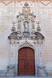 Cordoba - den barocka portalen av kyrkliga Verklig Colegiata de San Hipolito från året 1730 av Juan de Aguilar fotografering för bildbyråer