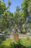 Cordoba - der moderne Brunnen in Jardines de la Agricultura Stockbild