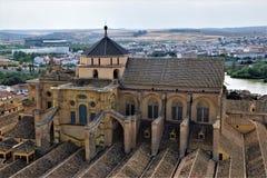 Cordoba dess fantastiska mezquita domkyrka royaltyfri fotografi