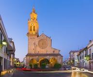 Cordoba - det gotiskt - mudejar kyrkliga Iglesia de San Lorenzo Royaltyfria Foton