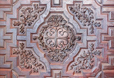 Cordoba - The detail of baroque carved gate of church Iglesia de Nuestra Senora de los Dolores Royalty Free Stock Image