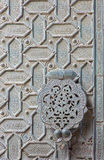 Cordoba - The detail of mudejar bronze gate of the Cathedral. Royalty Free Stock Images