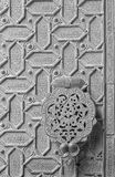 Cordoba - The detail of mudejar bronze gate of the Cathedral. Royalty Free Stock Photography