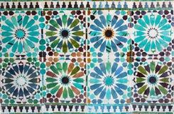 Cordoba - The detail of  tiling in mudejar Capilla San Bartolome chapel. Stock Images
