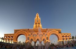 Cordoba Fair cover at sunset Royalty Free Stock Image