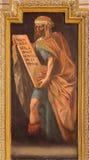 Cordoba - freskomålning av profeten Amos in i kyrkliga Iglesia de San Augustin från 17 cent vid Cristobal Vela och Juan Luis Zamb Royaltyfri Bild