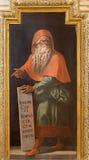 Cordoba - freskomålning av profeten Jeremiah i kyrkliga Iglesia de San Augustin från 17 cent vid Cristobal Vela och Juan Luis Zam Royaltyfria Bilder