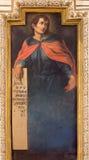 Cordoba - freskomålningen av profeten Joel arkivbilder
