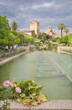 Cordoba - gardens of palace Alcazar de los Reyes Cristianos. Royalty Free Stock Photos
